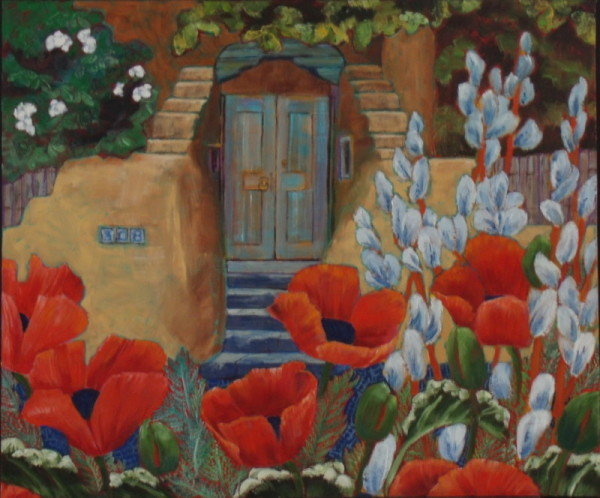 Steps and Poppies